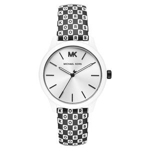NWT Michael Kors Runway Leather Strap Watch